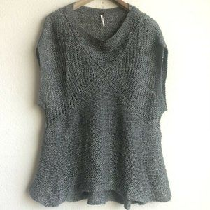 Free People Tatiana Pullover Gray Knit Top Size S